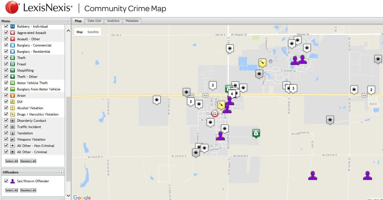 Crime Map example